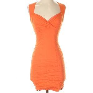 Nicole Miller Orange Body Hugging Dress